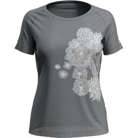 Odlo Concord T-Shirt S/S Crew Neck Women grey melange/bloom print